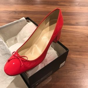 New Size 9.5 J Crew Red Patent Leather Pumps
